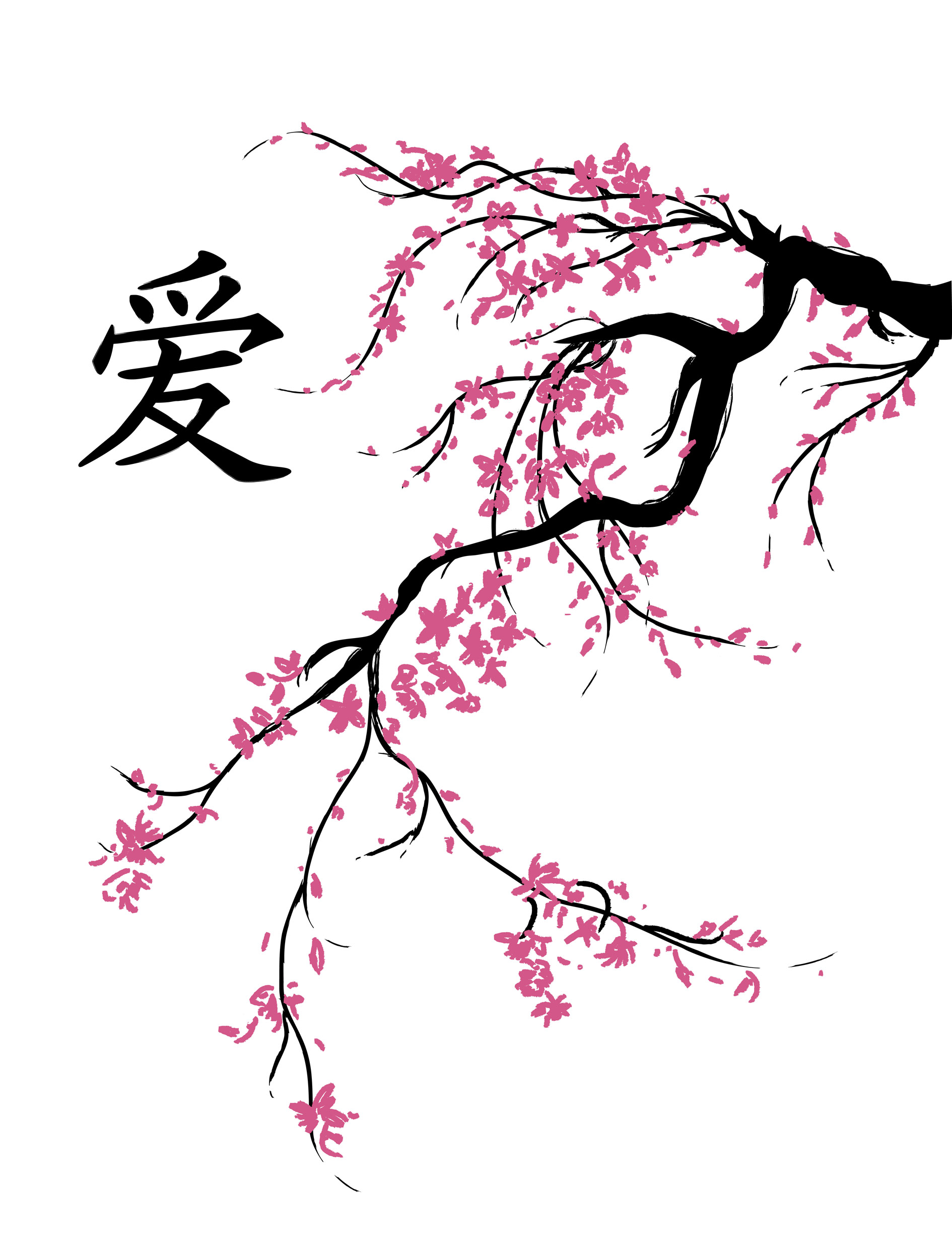 Drawn sakura blossom japanese drawing To The a beginnings is