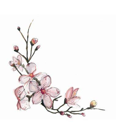 Drawn cherry blossom logo #14
