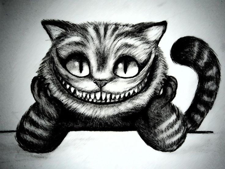 Drawn cheshire cat Cat Cat Pinterest Google Cheshire