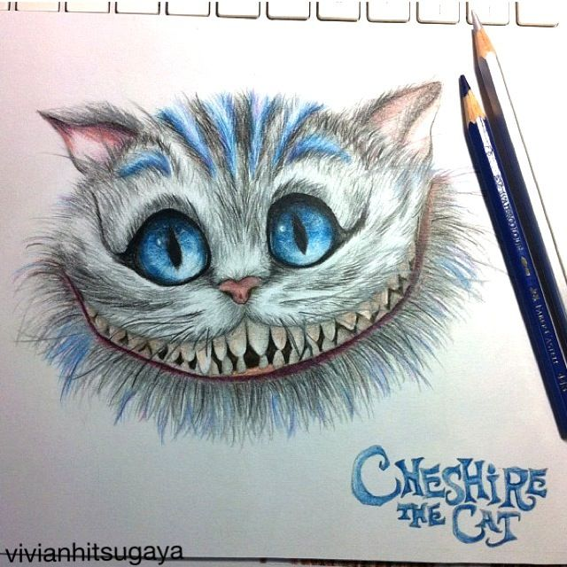 Drawn cheshire cat Cheshire on Pinterest drawing Cat