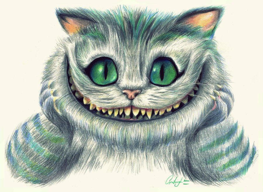 Drawn cheshire cat 25+ Cheshire grin best Pinterest