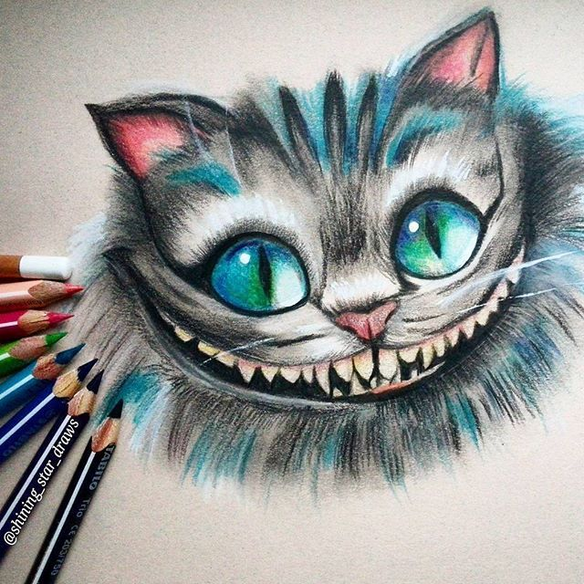 Drawn cheshire cat Gatos Best gato Cheshire cat
