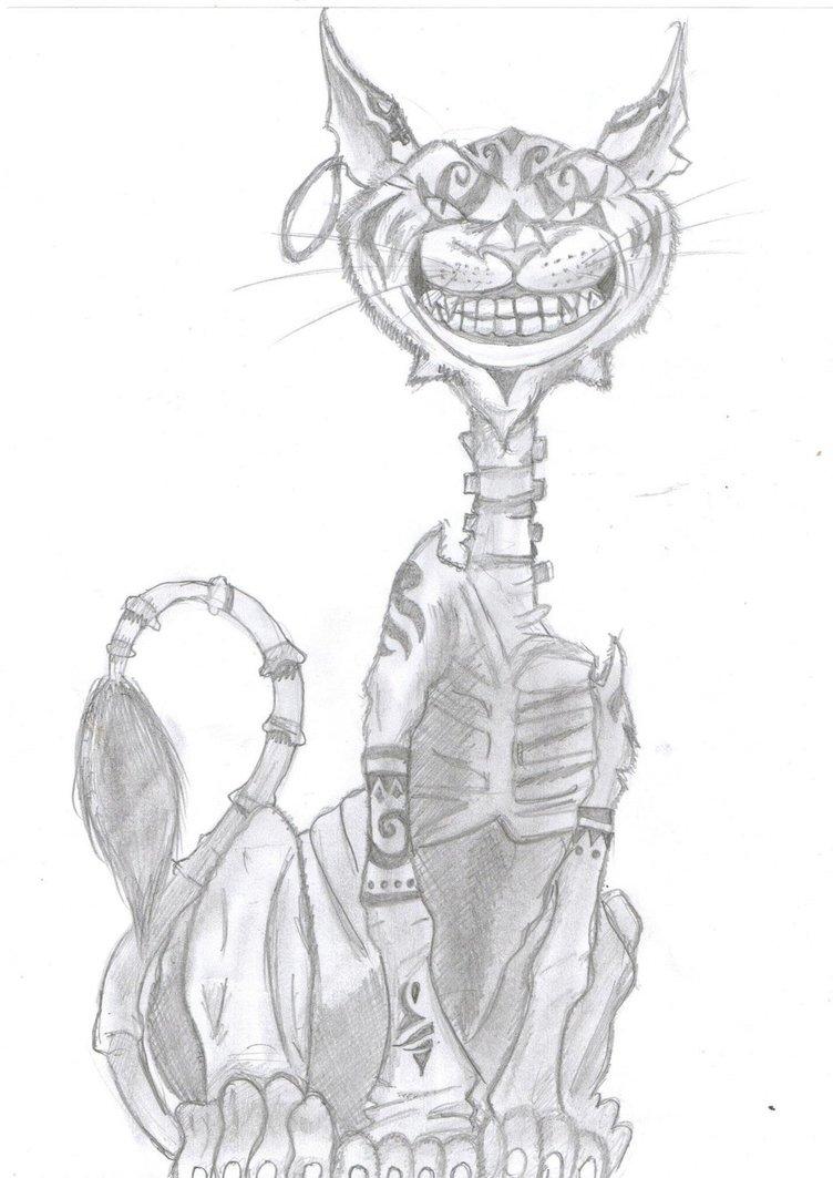 Drawn cheshire cat alice madness returns YepVans on Madness DeviantArt Cat