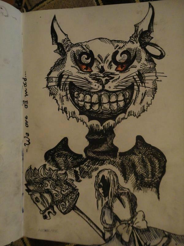 Drawn cheshire cat alice madness returns SkrillexAndDubstep50 on Madness  Cat