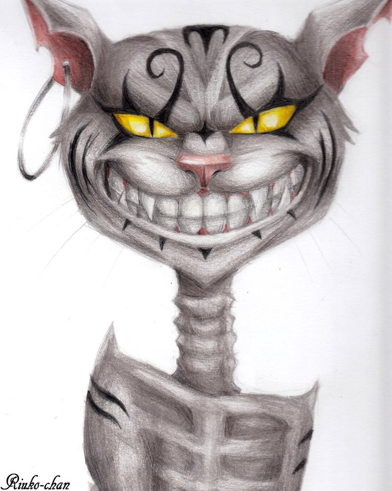 Drawn cheshire cat alice madness returns By Riuko Alice on chan