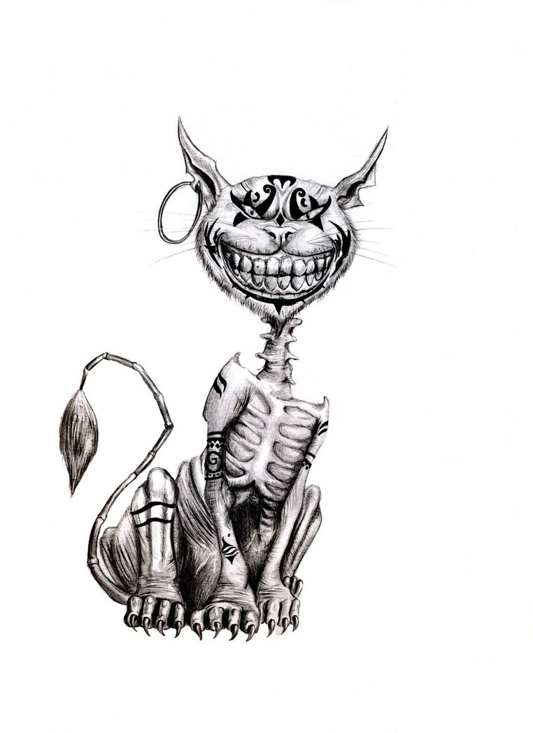 Drawn cheshire cat alice madness returns On by Le Alice En
