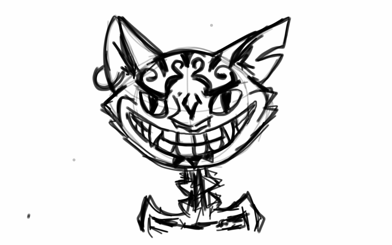 Drawn cheshire cat alice madness returns On Alice: madness Cheshire by