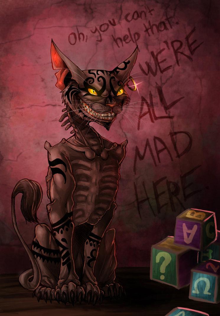 Drawn cheshire cat alice madness returns Returns I Again Cat Alice