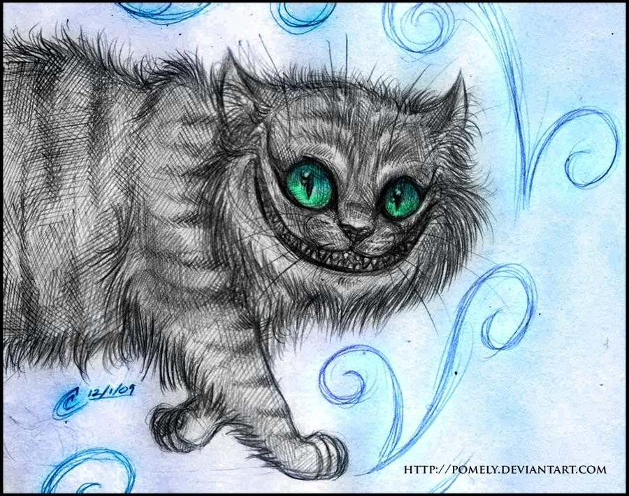 Drawn alice in wonderland real cat #6