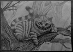 Drawn cheshire cat chesser Cheshire DrawingDisney Drawing Alice Charcoal