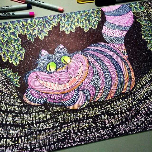 Drawn cheshire cat doodle Doodles in sharpies sharpies doodle