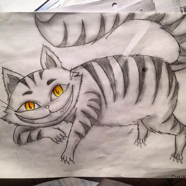 Drawn cheshire cat doodle Emoji1f63a