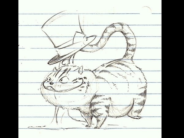Drawn cheshire cat doodle By Cheshire DeviantArt by kidbrainer