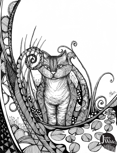 Drawn cheshire cat doodle Cats & Illustration & Illustration
