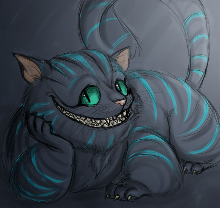 Drawn cheshire cat doodle  cat Pinterest by on