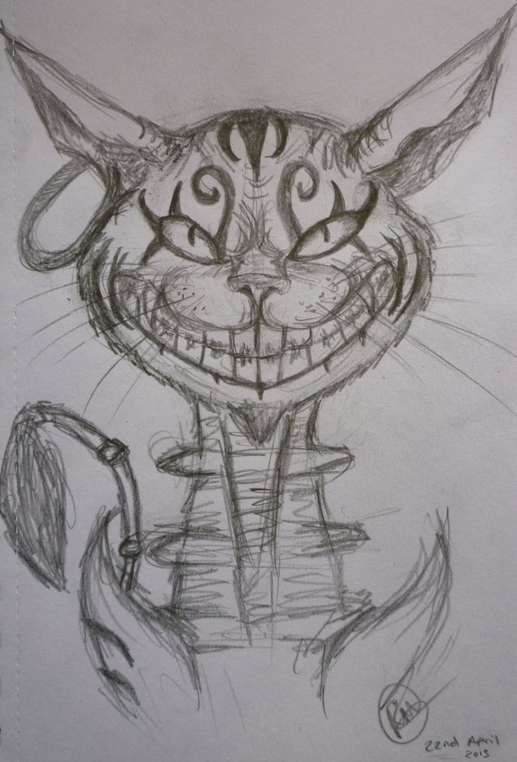 Drawn cheshire cat doodle Lightofunity Pages Cat By D62ls15