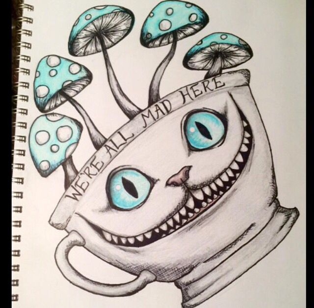 Drawn cheshire cat doodle Cat for tattoo in Cheshire