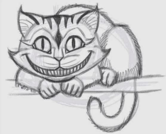 Drawn cheshire cat face Draw Draw jpg Coloring Cat