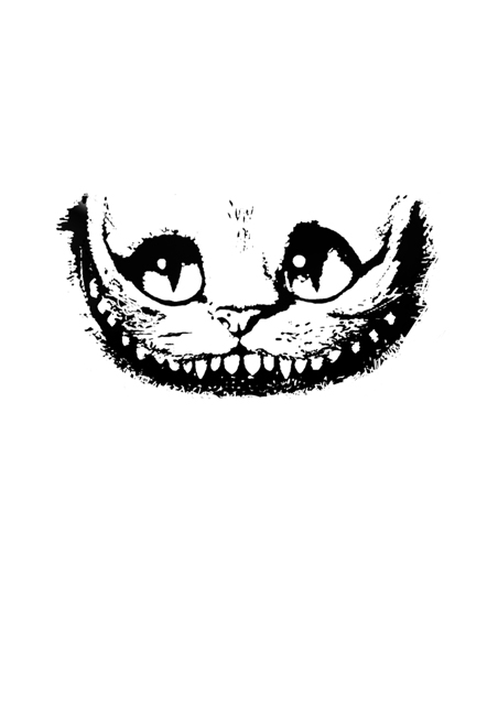 Drawn cheshire cat face I cheshire nyaa will smile