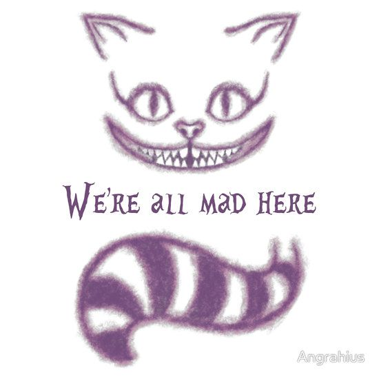 Drawn cheshire cat face On quotes cat Cheshire more