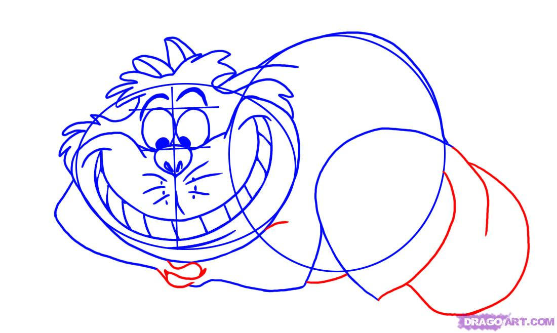 Drawn cheshire cat face Cat Step  How Step
