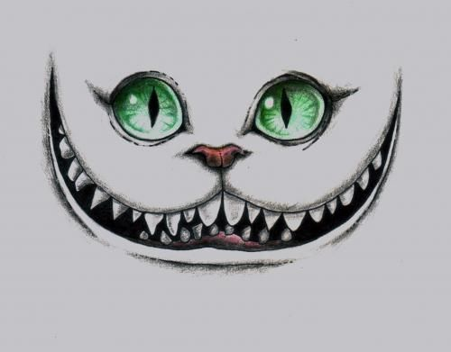 Drawn cheshire cat face Wonderland Best on Ink theCheshire