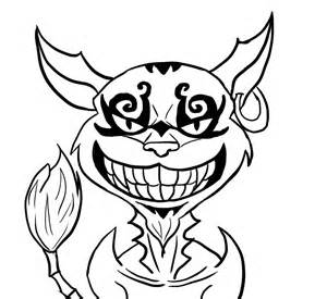 Drawn cheshire cat face Easy cat cheshire to Pages