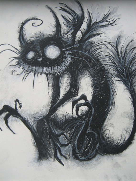 Drawn cheshire cat horror monster Cat A GAVE best on