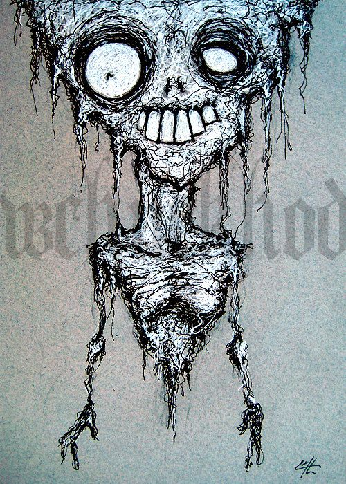 Drawn cheshire cat horror monster Eyes Death Gothic Horror best