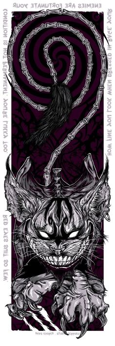 Drawn cheshire cat horror monster Cheshire Rhys com Good Pop