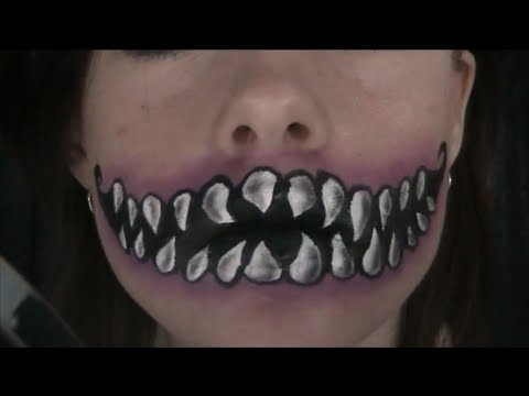 Drawn cheshire cat horror monster Mouth YouTube Paint/Makeup  Cheshire
