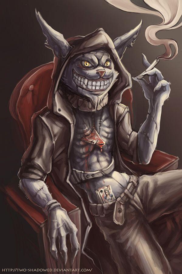 Drawn cheshire cat horror monster 2017 best DeviantArt Cosplay Pinterest