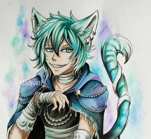 Drawn cheshire cat humanized Human Tumblr cheshire cat cat
