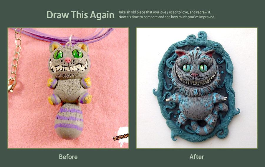 Drawn cheshire cat kawaii (sculpt) (sculpt) CAT! Draw by