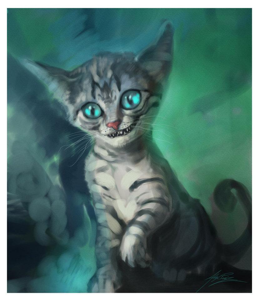 Drawn cheshire cat kitten Cheshire Mad Kitten All Cheshire