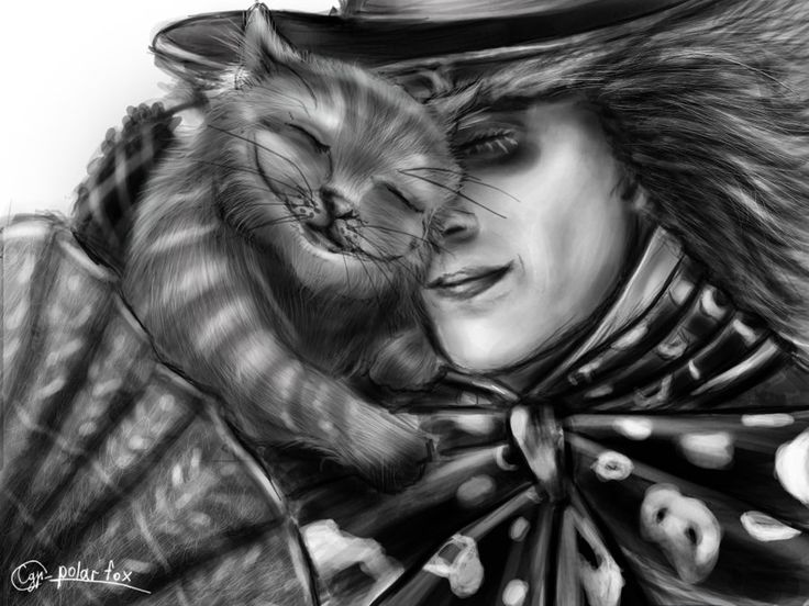 Drawn cheshire cat mad hatter Mad Hatter All *SvPolarFox and