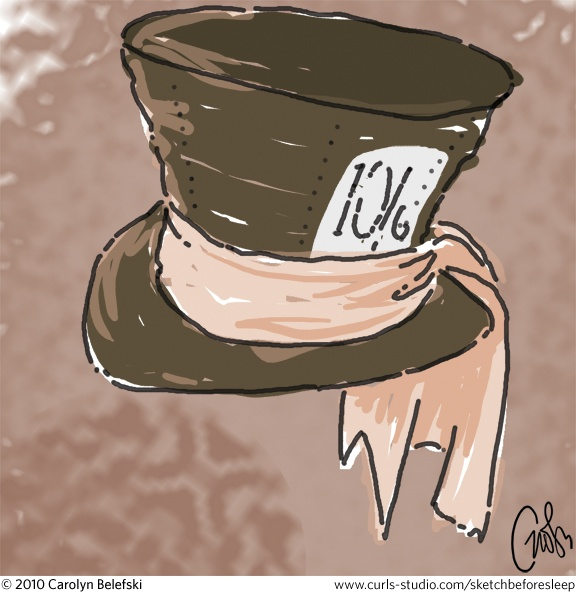 Drawn cheshire cat mad hatter Mad hatter's Hatter 72 hat