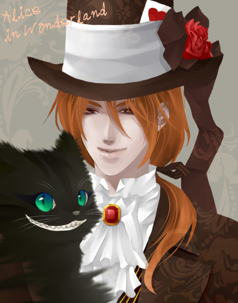 Drawn cheshire cat mad hatter Mad Hatter by foggykay and