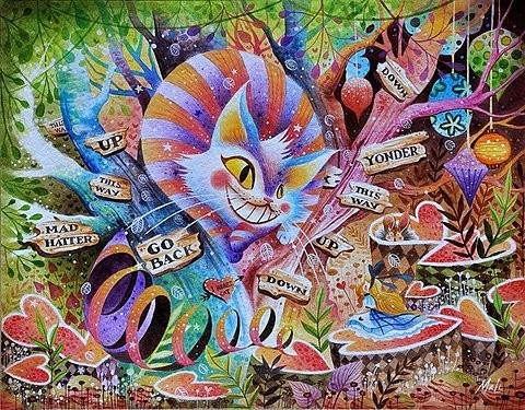 Drawn triipy alice in wonderland Wonder  alice in art