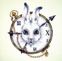 Drawn cheshire cat rabbit Alice Artsy Of  Pinterest