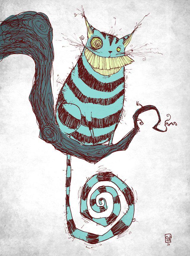 Drawn cheshire cat rabbit Ideas Cheshire on  Best