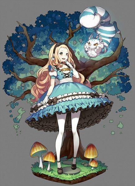 Drawn cheshire cat rabbit (Alice art Cheshire on Pinterest