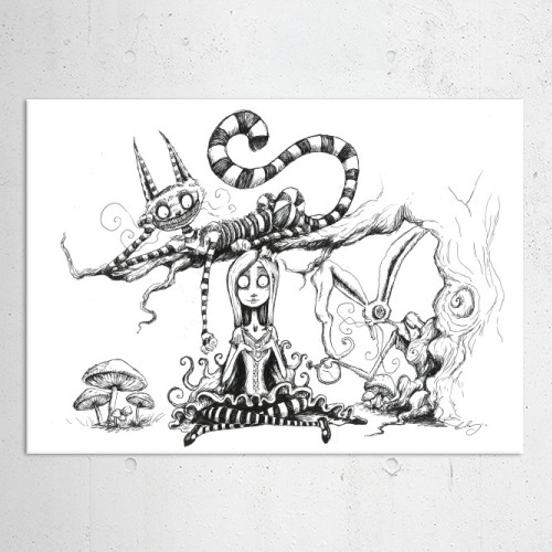 Drawn cheshire cat rabbit Chesirecat artwork Bonney Chris Displate