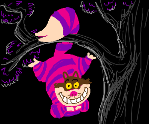 Cheshire Cat clipart the tree BlitzGirl) Cat (drawing swinging Cat