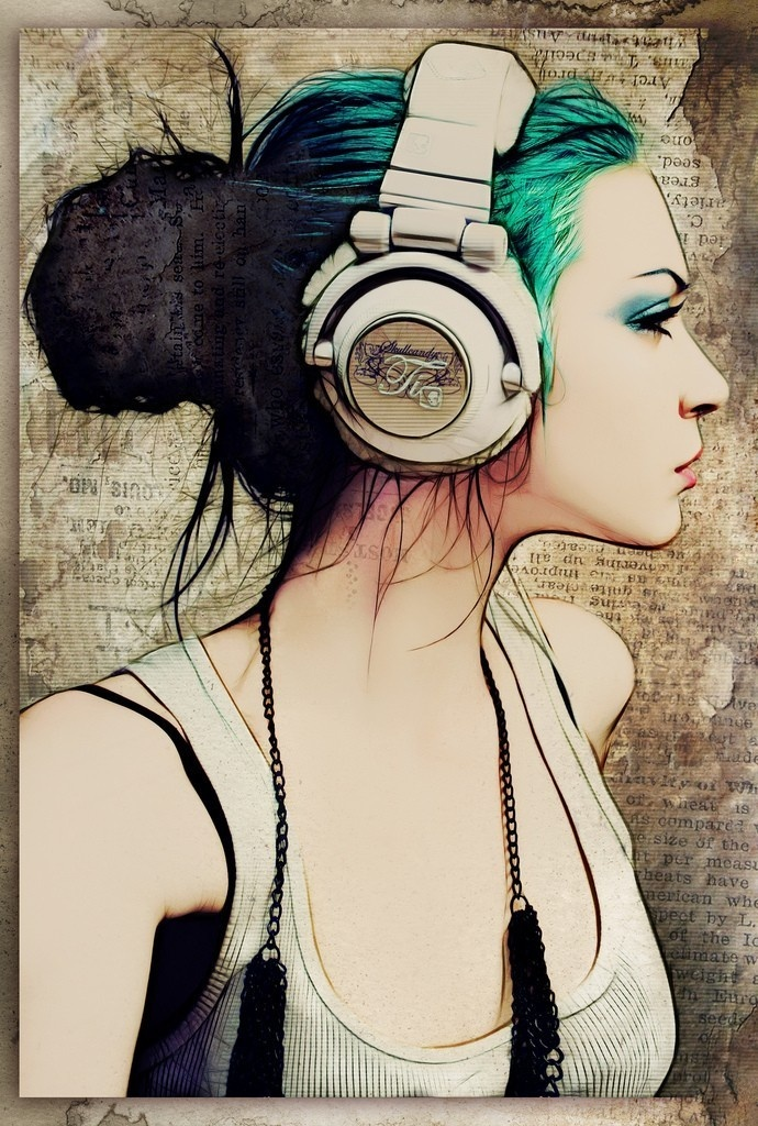 Drawn headphones On anime with Find with