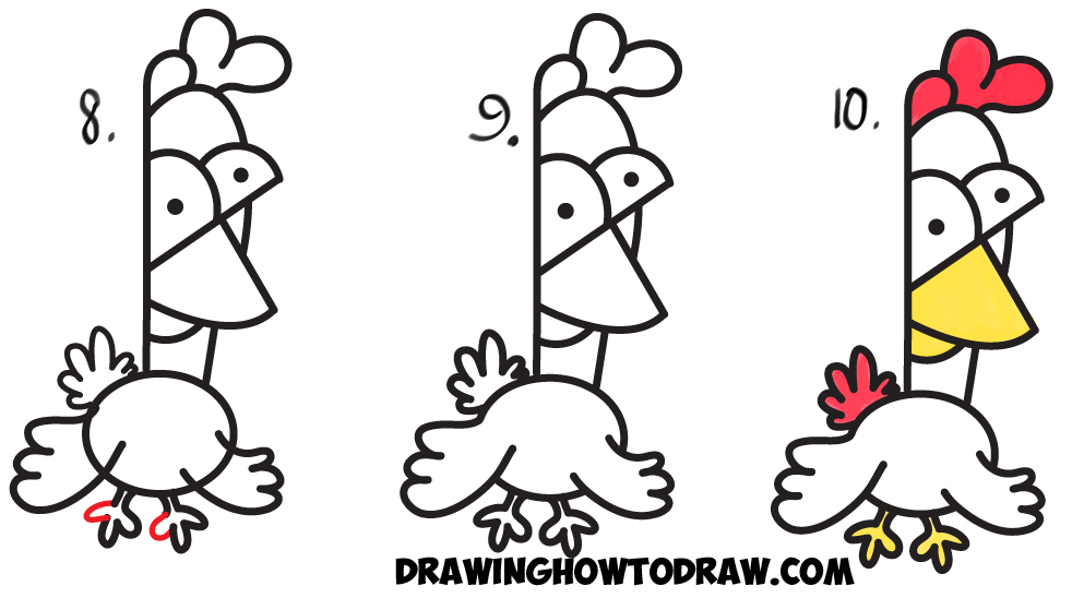 Drawn rooster chicken Learn Chickens Letter / K