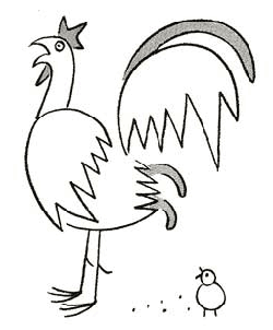 Drawn rooster cartoon  Drawing Chickens to Male
