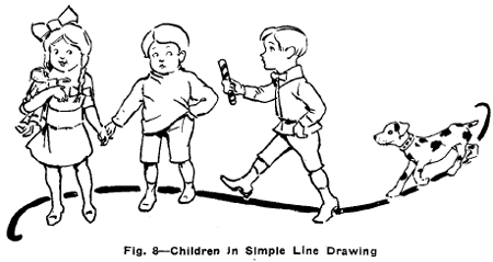 Drawn child : Line & Objects of
