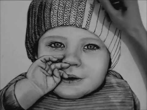 Drawn portrait coal A Baby Charcoal Charcoal YouTube