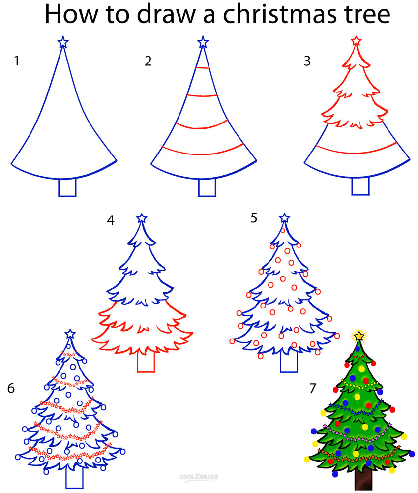 Drawn amd christmas tree How Step by Cool2bKids Step